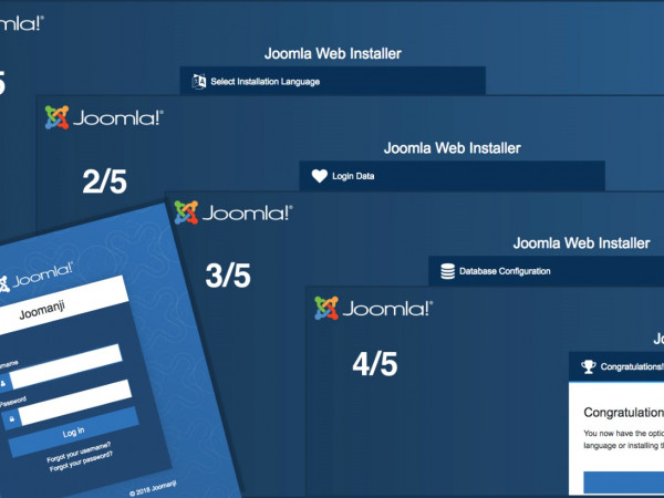 joomla4 cms interface d'installation blog