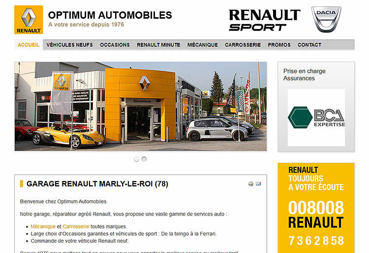 Optimum automobiles for Garage renault marly 59770