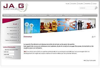 Site internet JA.G Consulting
